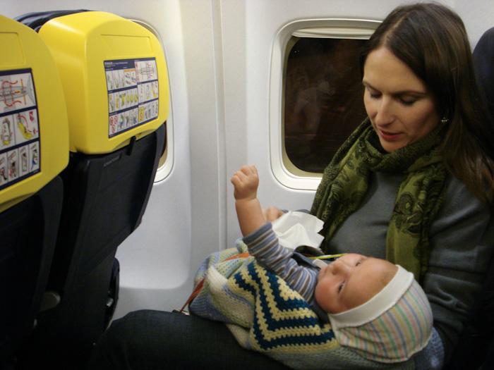 Jānis Džimmijs Bižāns lidmašīnā